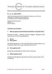 Schriftenverzeichnis - Konvergenz-management.com