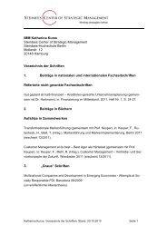 Verzeichnis der Schriften - Konvergenz-management.com