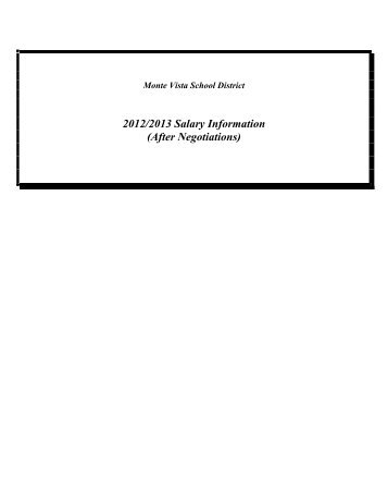 Huntington Beach City School District Salary Schedule
