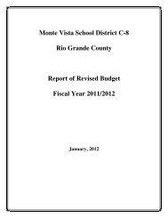 2011-12 Revised Budget - Monte Vista School District