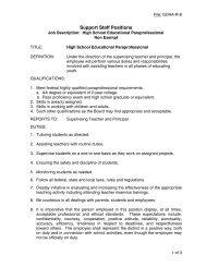 Support Staff Positions - Monte Vista School District