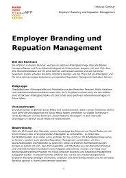 Employer Branding und Repuation Management Inhouse-Seminar