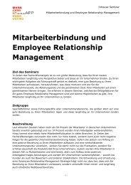 Mitarbeiterbindung und Employee Relationship Management ...