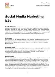 Social Media Marketing b2c Inhouse-Seminar - Sonja App ...
