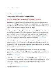 Gründerpreis MediaAward 2008 verliehen - Sonja App Management ...