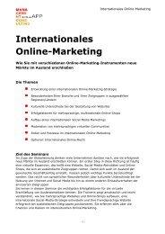 Internationales Online-Marketing - Sonja App Management Consulting