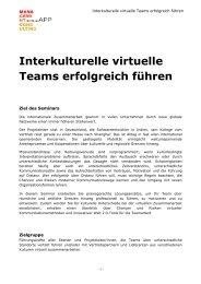 Interkulturelle virtuelle Teams erfolgreich führen Inhouse-Schulung
