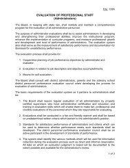 EVALUATION OF PROFESSIONAL STAFF (Administrators)