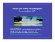 Reflections on the Viking Program: Lessons Learned?