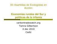 Economías rurales del Sur y políticas de la infamia - Carbon Trade ...