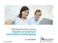 IKK Akademie Online Campus Integration von E-Learning in ...