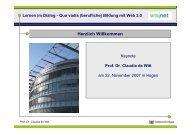 Lernen im Dialog - Quo vadis (berufliche) Bildung mit Web 2.0
