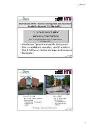 business succession success / fail factors - Institut