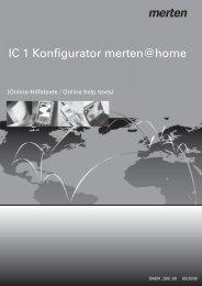IC 1 Konfigurator merten@home