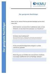 Checkliste Nachfolger finden (PDF, 136 KB) - KMU ...