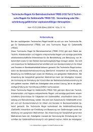 Technische Regeln für Betriebssicherheit TRBS 2152 Teil 2 Techni ...