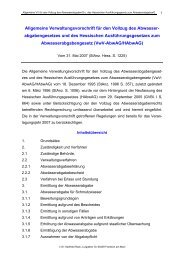 Allgemeine Verwaltungsvorschrift für den Vollzug des Abwasser ...