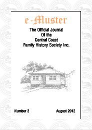 e-Muster August 2012 - Central Coast Family History Society Inc.