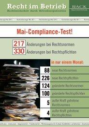 Mai-Compliance-Test! - RACK rechtsanwaelte