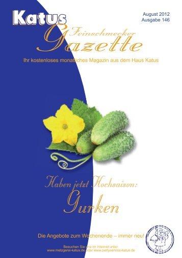 Gurken-Rahmgemüse - Metzgerei und Partyservice KATUS