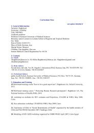 Curriculum Vitae 1. General Information Surname: Haghdoost ...