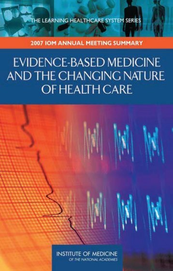 Evidence-based Medicine and the Changing Nature of Health Care ...