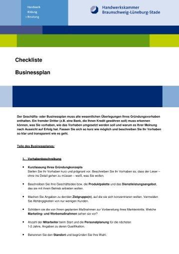 Neu Checkliste Businessplan