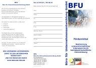 Födermittel (ESF) - BFU Büro für Unternehmensentwicklung GmbH