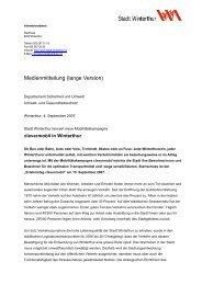 lange Version - Umwelt-/ Gesundheitsschutz - Winterthur