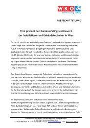 pressemitteilung - Landesinnung der Installateure in Niederösterreich