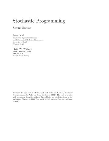 Stochastic Programming - Index of