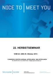 Herbstseminar, Ausschreibung 2013 - TREUHAND|SUISSE Sektion ...