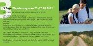 3 Tage Wanderung vom 23.-25.09.2011 - Gemeinde Windeck