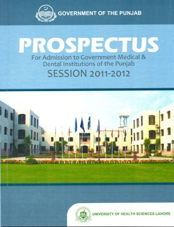 Prospectus 2011-2012 - University Of Health Sciences Lahore