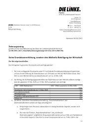 HSK VIII - DIE LINKE. Fraktion im Rat der Landeshauptstadt Hannover