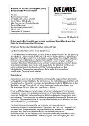 Bündnis für Soziale Gerechtigkeit (BSG) - DIE LINKE. Fraktion im ...