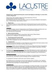 Protokoll Generalversammlung 2013