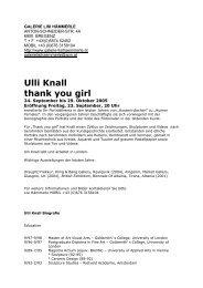 Ulli Knall thank you girl - Galerie Lisi Hämmerle