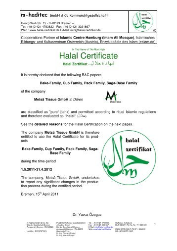 The Recognised Foreign Halal Certification Hdc