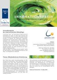 Ausschreibung Innovationspreis 2004 - Sodexo