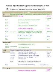 Programm | Tag der offenen Tür am 9. März 2013 - ASG - Albert ...