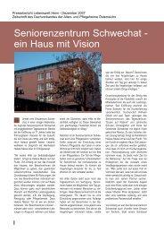 Seniorenzentrum Schwechat - ein Haus mit Vision - Sodexo