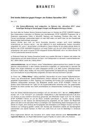 Drei starke Aktionen gegen Hunger: der Sodexo Servathon 2011