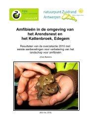 Amfibieën in de omgeving van het Arendsnest en het ... - Zuidrand
