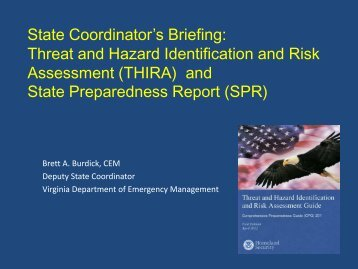 Threat and Hazard Identification and Risk Assessment (THIRA)