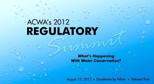 preliminary agenda - ACWA