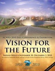 ACWA's 2010 Fall Conference & Exhibition Preregistration