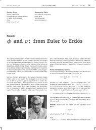 φ and σ: from Euler to Erd˝os - Nieuw Archief voor Wiskunde