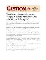"""""""Medicamentos genéricos que compra el Estado peruano son los ..."""