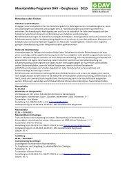 Programm - Alpenverein Burghausen.